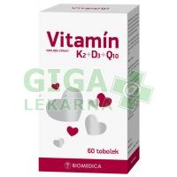 Vitamín K2+D3+Q10 Biomedica 60 tobolek