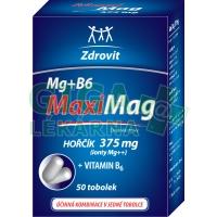 Zdrovit MaxiMag Hořčík 375mg + B6 tob.50